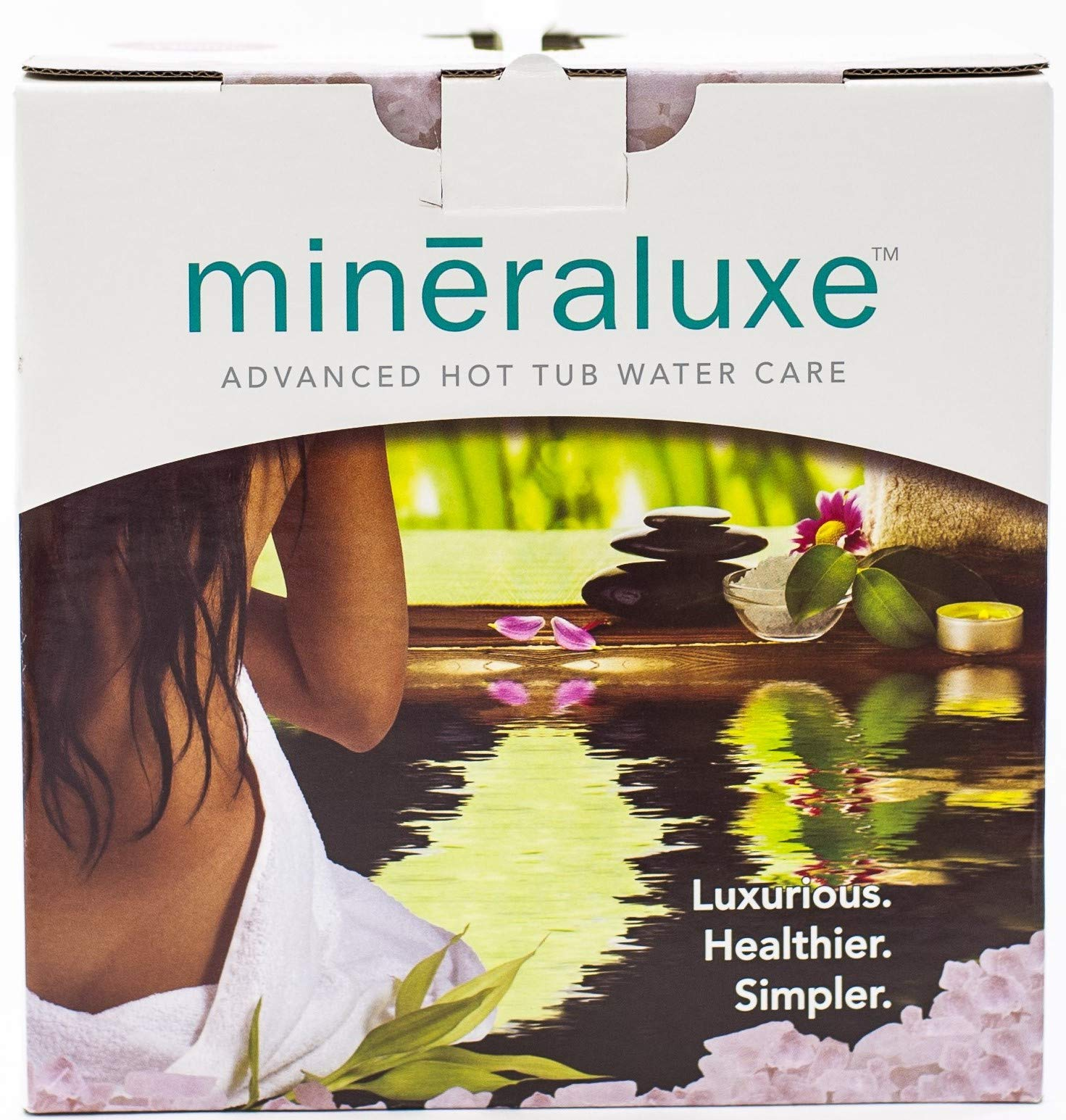 Mineraluxe Dazzle Weekly Spa and Hot Tub Care System with Bromine: 3 Month Kit by Mineraluxe