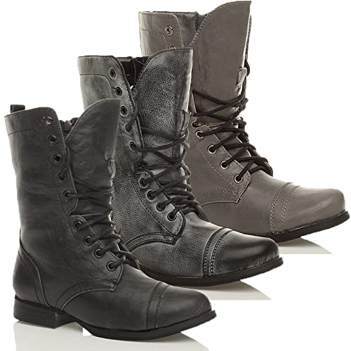 4737b281c WOMENS MILITARY WORK ARMY LADIES COMBAT BOOTS SIZE 6 39: Amazon.co.uk:  Shoes & Bags
