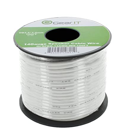 Amazon 14awg speaker wire gearit pro series 14 awg gauge 14awg speaker wire gearit pro series 14 awg gauge speaker wire cable 200 feet greentooth Choice Image