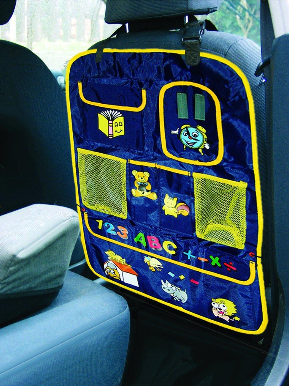 color azul Organizador con bolsillos para coche Reer 8405