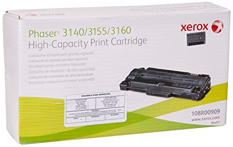 Genuine Xerox OEM | Phaser 3140/3155/3160 (Notus) |Toner Print Cartridge High Yld |108R00909/108R909
