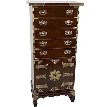 ORIENTAL FURNITURE Korean Antique Style 5 Drawer Chest - Amazon.com: ORIENTAL FURNITURE Korean Antique Style 5 Drawer Chest