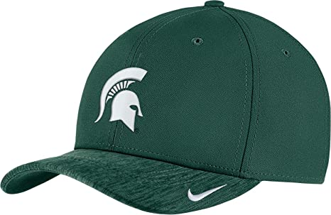 finest selection 04954 23972 Nike Men s Michigan State Spartans Green Aerobill Swoosh Flex Classic99  Football Sideline Hat (Small