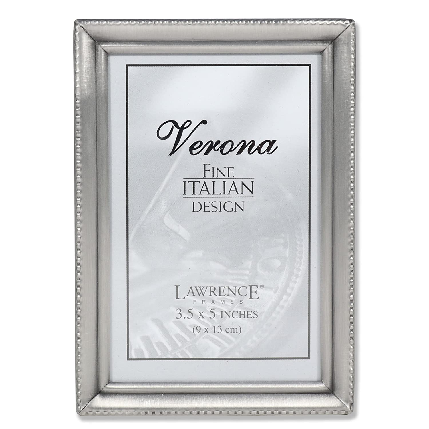 Amazoncom Lawrence Frames Antique Pewter 3x5 Picture Frame