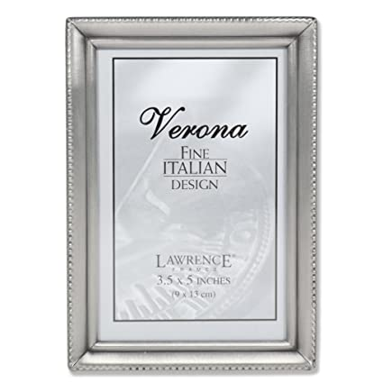Amazon.com - Lawrence Frames Antique Pewter 3x5 Picture Frame ...
