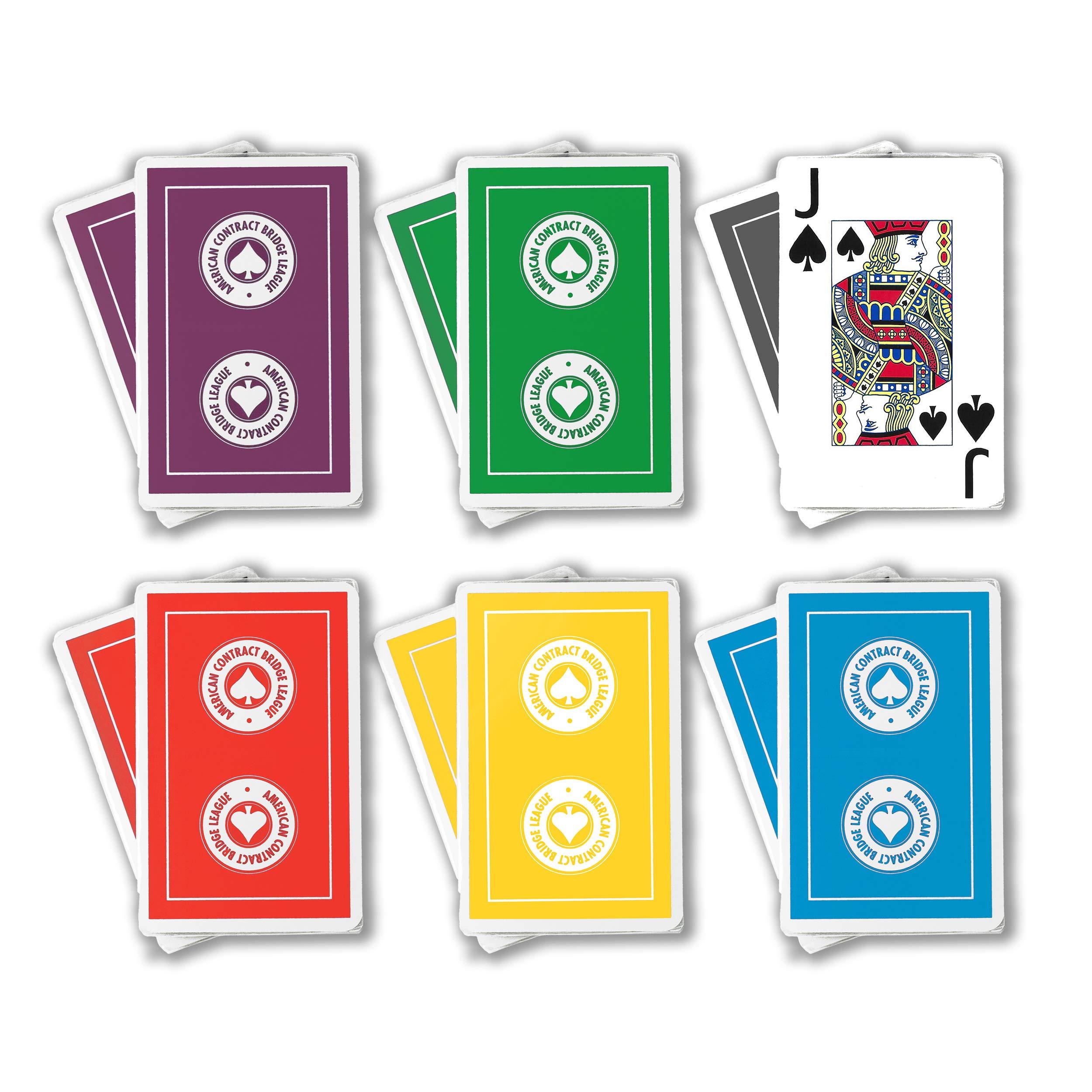 ACBL (American Contract Bridge League) Playing Cards - Jumbo Print - 1 Dozen Decks - Bridge Sized - Plastic Coated by Baron Barclay