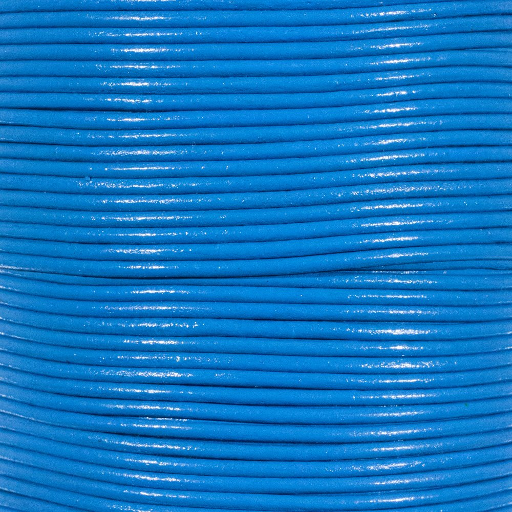 Necklaces 10 Yards // 9.1 Meters Turquoise 1.5mm Genuine Round Leather Cord Strips for Bracelets Beading and Other Jewelry Making