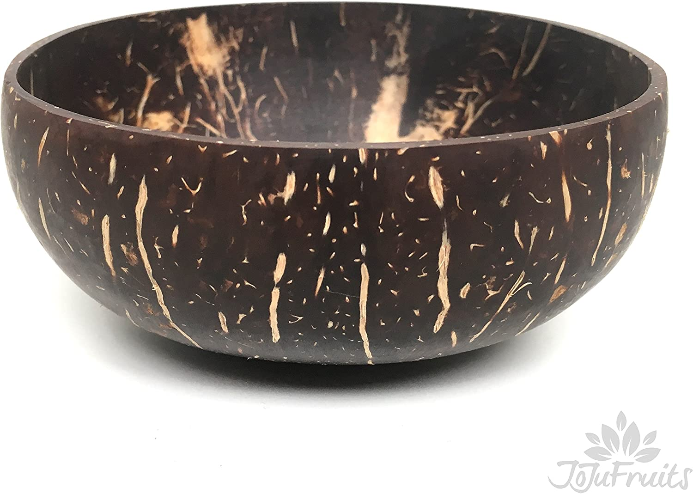 Noce Di Cocco Original Guscio Di Cocco JoJu Fruits 100/% Naturale Coconut Bowl