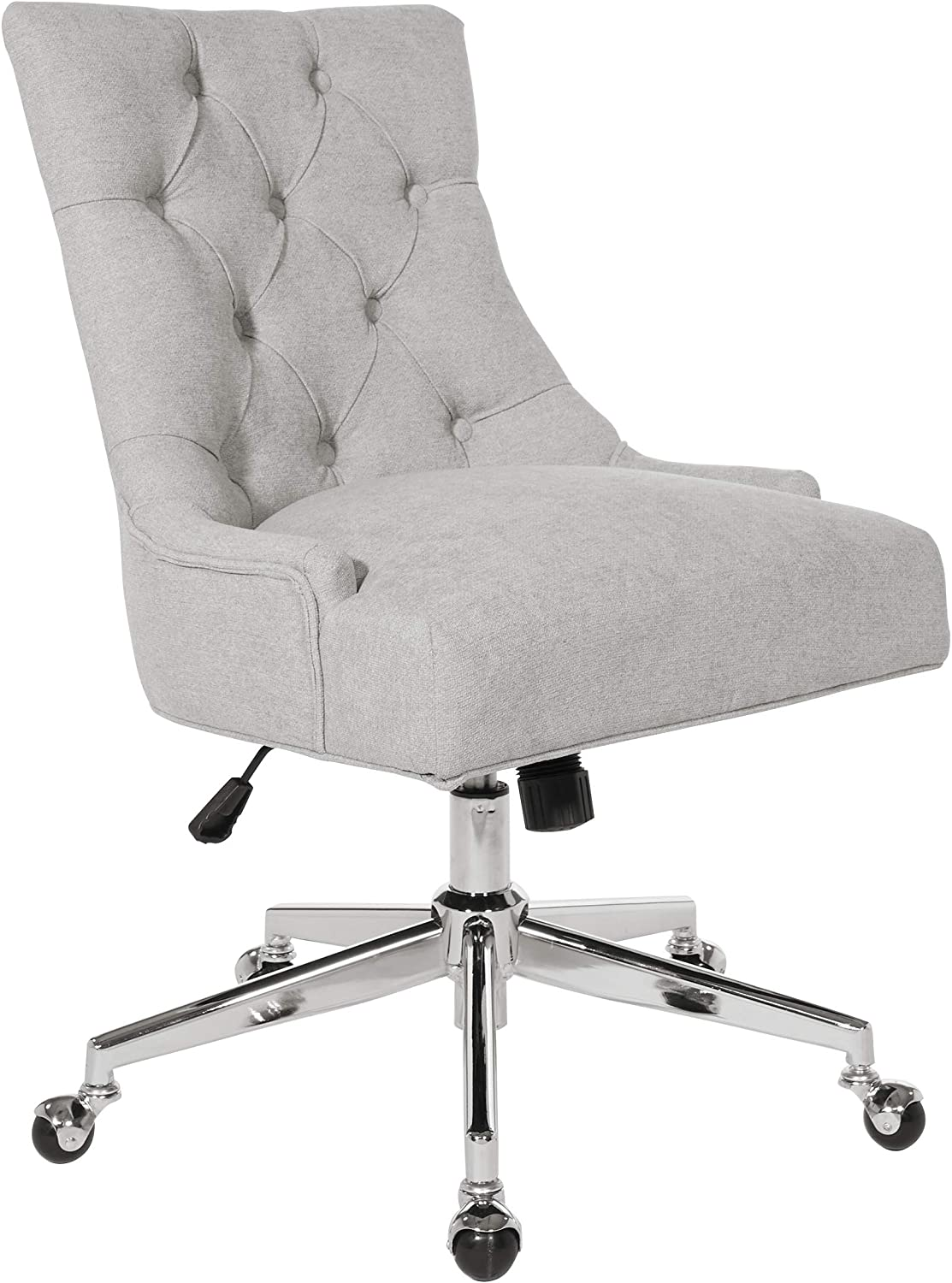 OSP Home Furnishings Amelia Office Chair, Fog