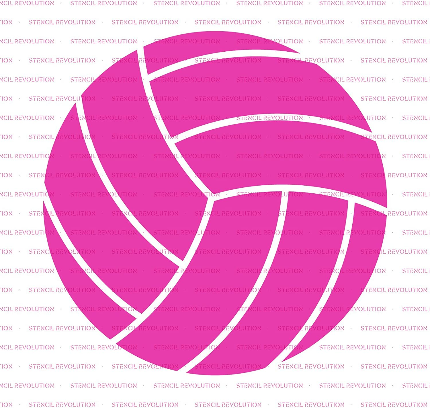 Volleyball Stencil Template for Walls and Crafts Reusable Stencils for Painting in Small /& Large Sizes