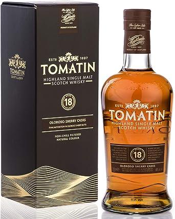 tomatin Distillery 18 años 46% 1 botella, 1er Pack (1 x 700 ml ...