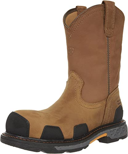 Ariat Men's Overdrive Pull-on H2O Composite Toe Work Boot, Dusted Brown, 7