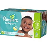 Pampers Baby-Dry Disposable Diapers Size 5, 128 Count, ECONOMY