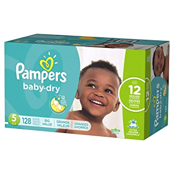 5c9e683bfb294 Image Unavailable. Image not available for. Color  Pampers Baby-Dry  Disposable Diapers Size 5