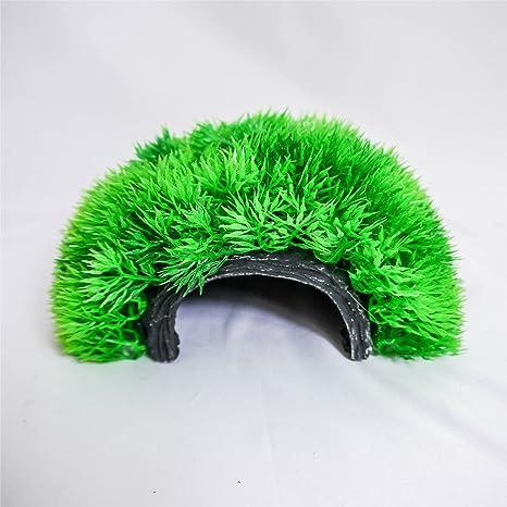 Planta de Hierba Artificial de Plástico Grande en Forma de Bola para Decoración de Acuario,