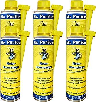 Mr Perfect Motorinnenreiniger 6 X 250 Ml Additiv Zur Öl Spülung Für Alle Benzin Und Dieselmotoren Schalt Und Differentialgetriebe Auto