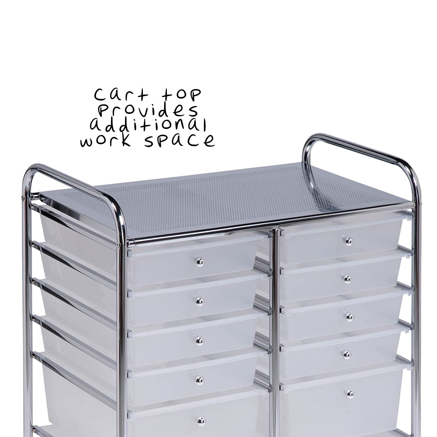 Honey can do rolling storage cart organizer 12 plastic drawers amazon in home kitchen