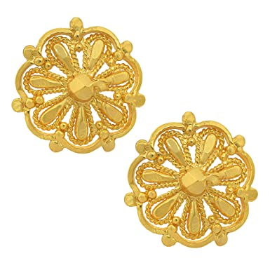 67d6e7941 Buy MissMister Gold Finish Latest Design Ethnic Fashion Stud Earrings For  Girl & Women Online at Low Prices in India | Amazon Jewellery Store -  Amazon.in
