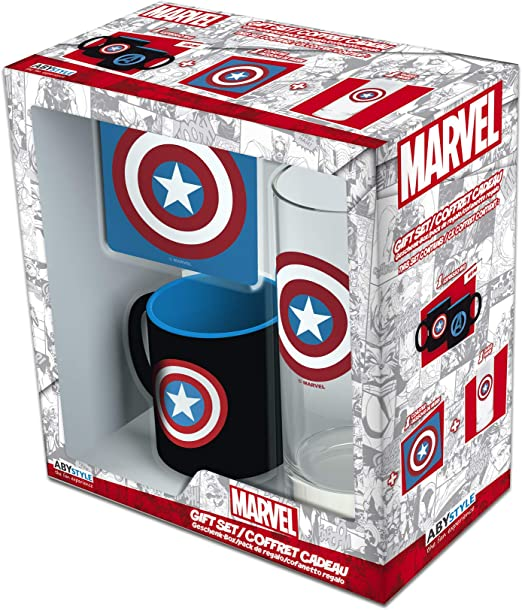 ABYstyle - MARVEL Glass Pack 29cl + Coaster + Mini Mug