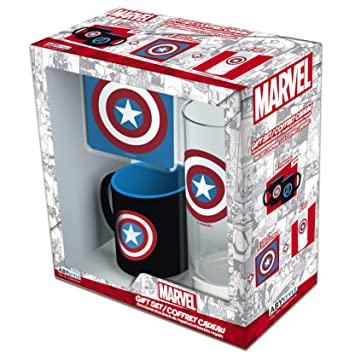 ABYstyle - MARVEL Glass Pack 29cl + Coaster + Mini Mug ...