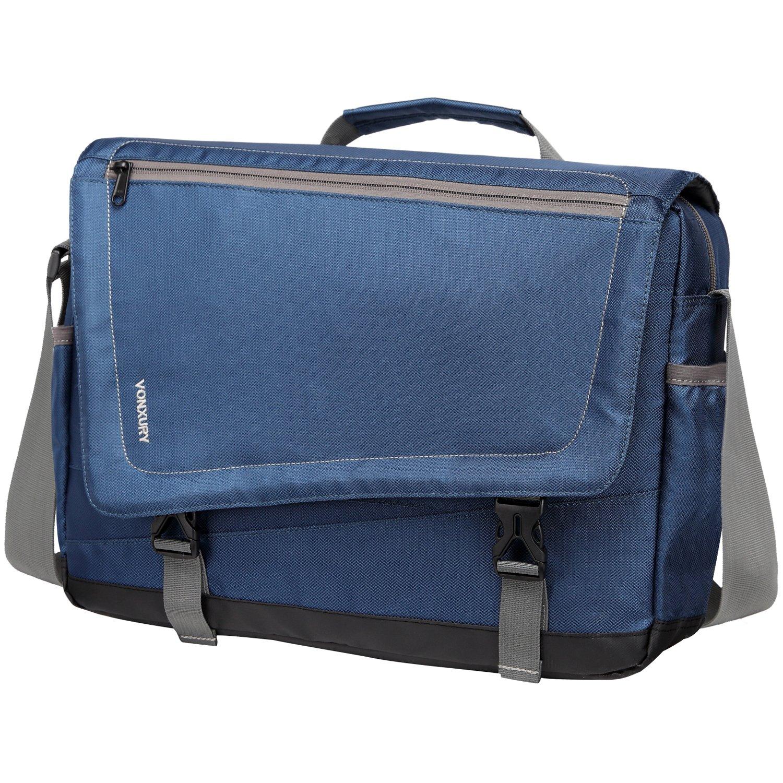 15.6 Laptop Messenger Bag for Men Lightweight Water Resistant Black School Shoulder Bag by Vonxury VX VONXURY VXMB001BANL