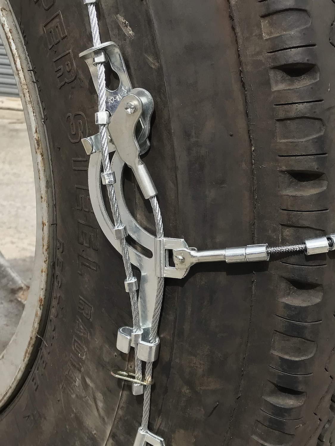 295//80 22.5 Cable Tire Chains with Cam Set of 2 TireChain.com 2317 295//80-22.5