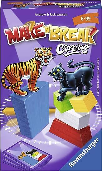 Ravensburger Mitbringspiele Make /'n/' Break Circus Geschicklichkeitsspiel Spiel