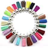 40mm Mix Color Suede Tassel for Keychain Cellphone Straps Jewelry Charms,50pcs Leather Tassels Diy Accessories