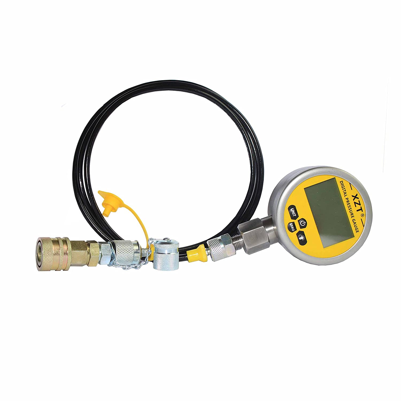 XZT 10000PSI Digital Hydraulic Pressure Test Coupling Kit,Repair Test Tools for USA Brand Excavator (10000PSI)