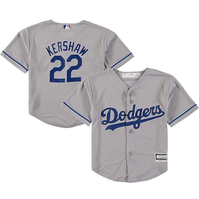 the best attitude c8ce8 9654b Amazon.com: Clayton Kershaw Los Angeles Dodgers Gray Youth ...