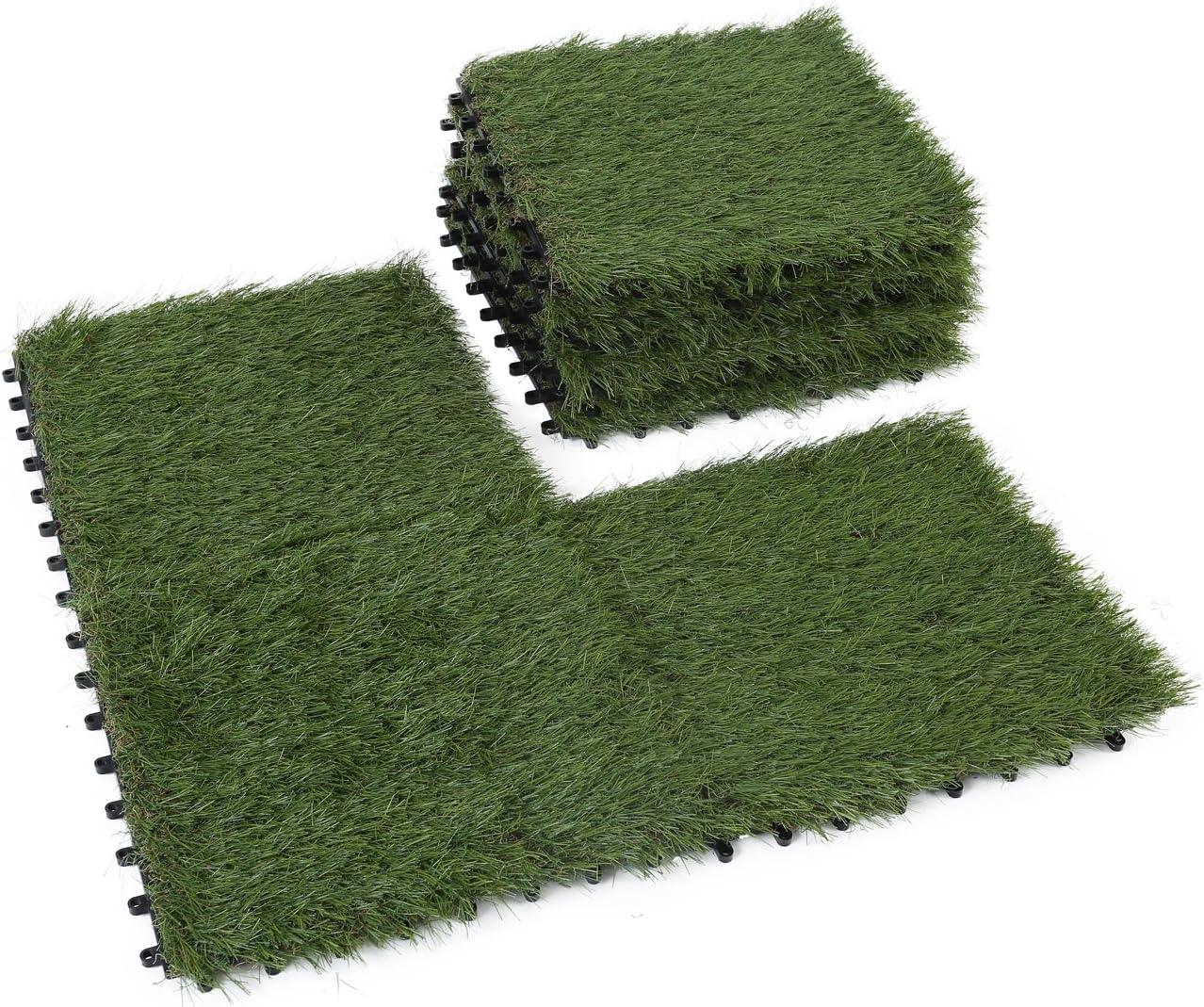 Golden Moon Artificial Grass Turf Tile Interlocking