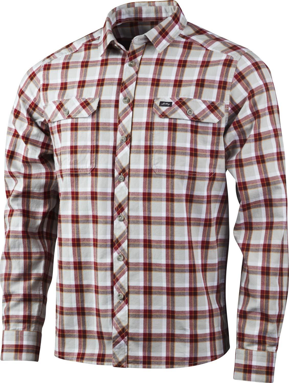 Lundhags Flanell MS Shirt Outdoorhemd (Dark-ROT)