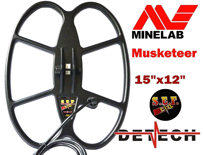 DETECH 15 × 12 pies S.E.F. Bobina de búsqueda Impermeable de Mariposa para minelab Mosquetero, Incluye Cubierta de Bobina de detectores de Metal: ...