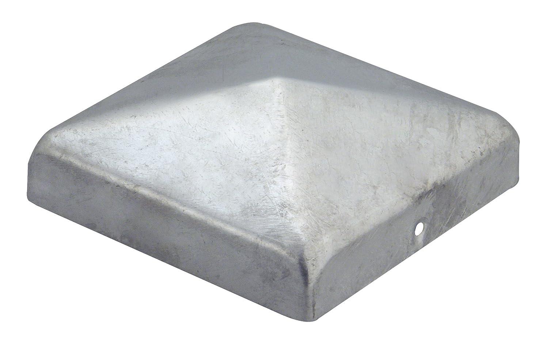 GAH-Alberts Capuchon plat pour poteau en bois 70 x 70 mm / 10 Stk. Surface galvanisée à chaud 205805