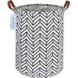 LANGYASHAN Laundry Basket Canvas Fabric Collapsible Organizer Basket for Storage Bin Toy Bins Gift Baskets Bedroom Clothes Ch