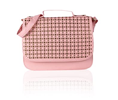 b86c01a9d013 Voaka Women's Sling Bag (Baby Pink) (Set of 2): Amazon.in: Shoes ...