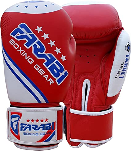 Farabi Raw Genuine Cowhide Leather Boxing MMA Muay Thai Kickboxing Punching Training Sparring Bag Gloves Mitts