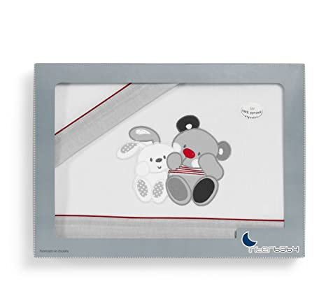 Sábanas para Minicuna Amigos - Medida estándar 50 x 80 (sabana bajera ajustable + funda almohada + encimera): Amazon.es: Bebé