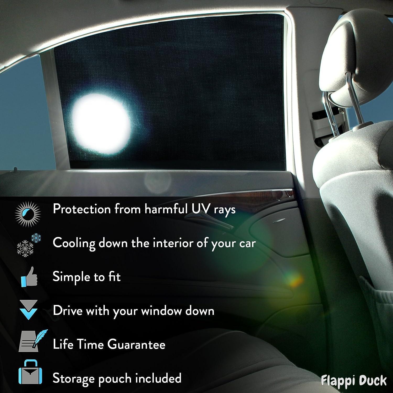 Parasol coche lateral Proteja a sus ni/ños y mascotas Parasol coche infantil Parasol de coches Bloquea el 98/% de los rayos UV Parasol coche delantero 100/% Garant/ía de por vida