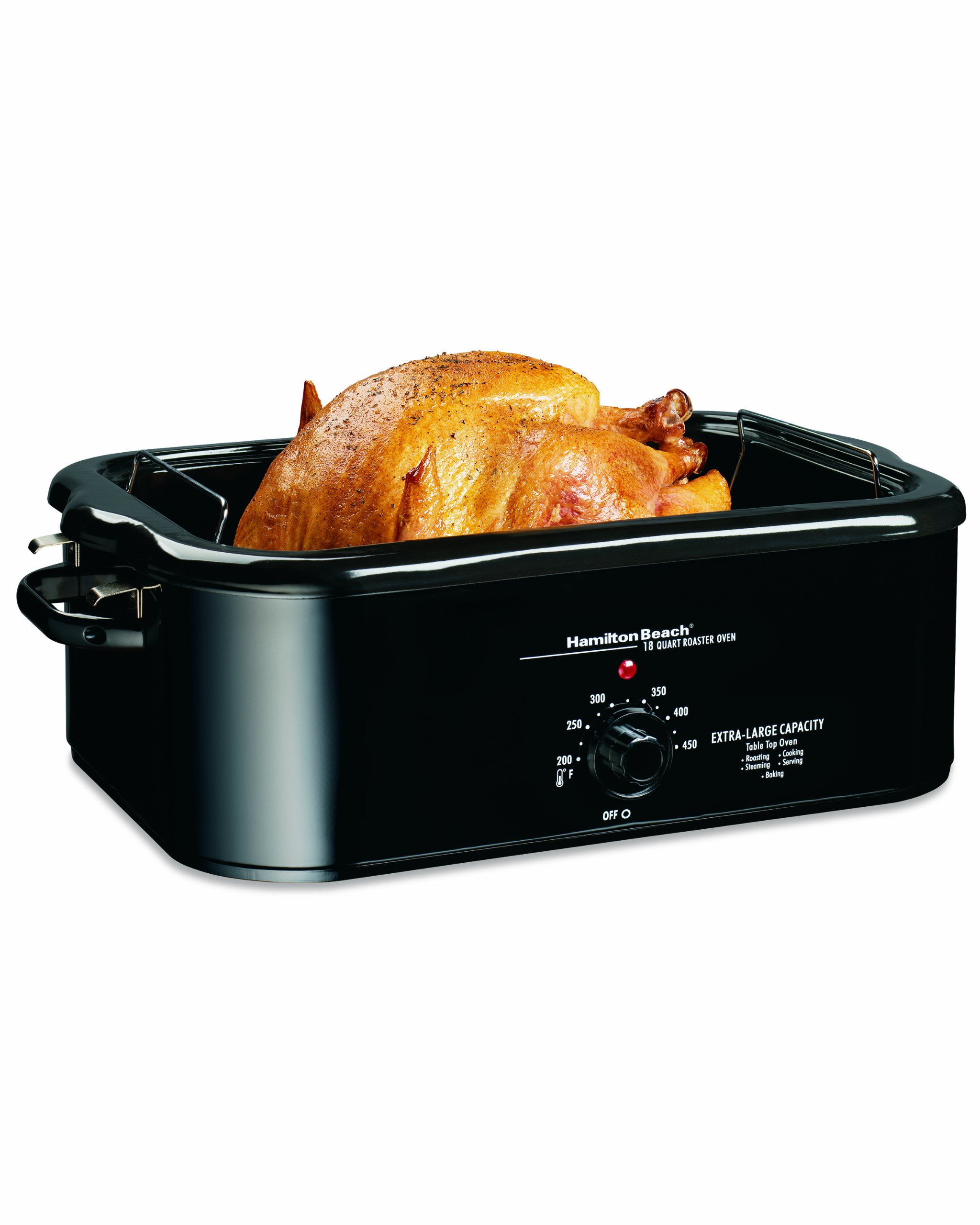 Hamilton Beach 32184 18-Quart Roaster Oven with Serving Lid and Buffet Pans, Black