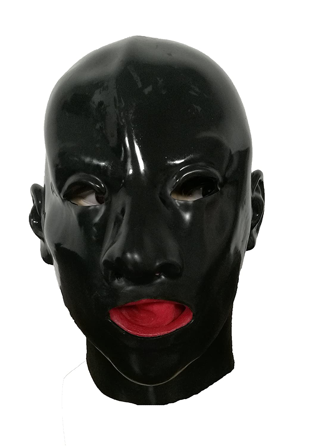 LMJMASK Latex Female Realistic Mask with Nose Tube and Mouth Hole