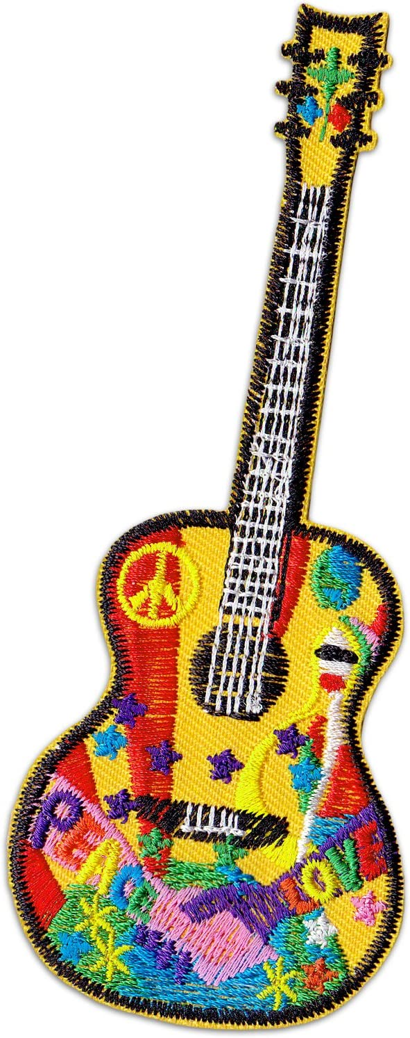 Hippie Guitar parche para planchar Patch Guitarra Party Festival ...