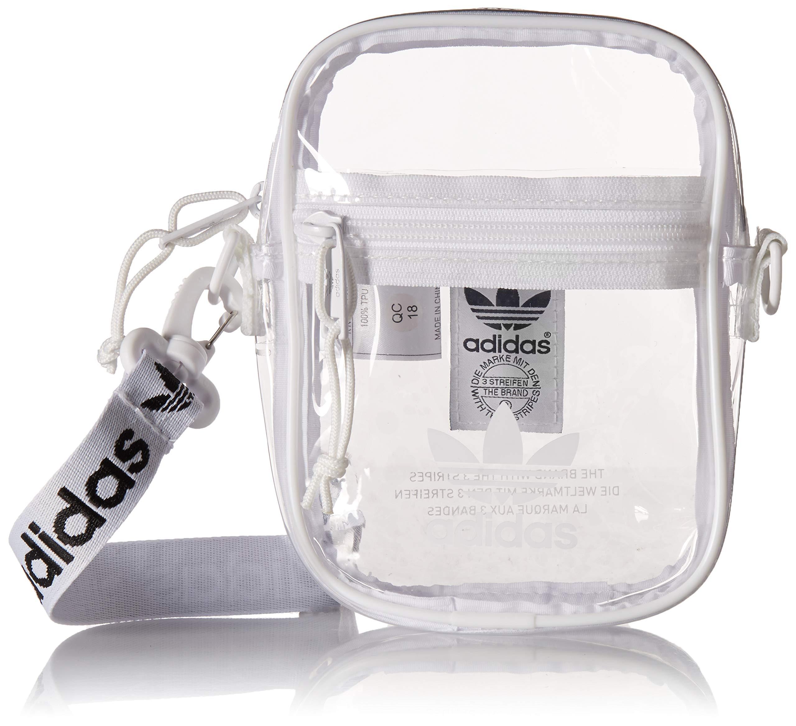 adidas Originals Originals Clear Festival Crossbody, White, One Size