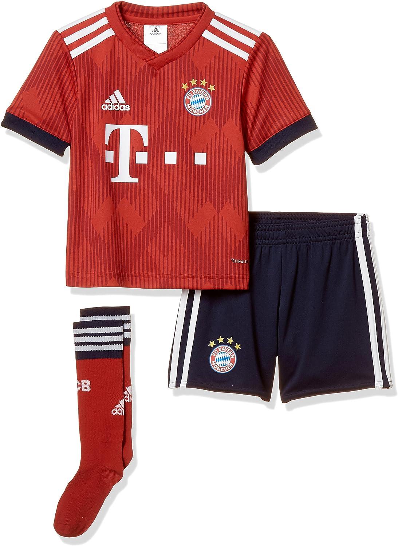 adidas 2018-2019 Bayern Munich Home Little Boys Mini Kit