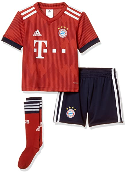 reputable site da805 6b6e1 adidas 2018-2019 Bayern Munich Home Little Boys Mini Kit
