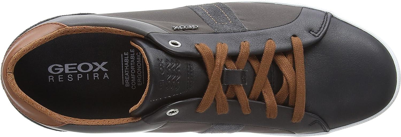 Geox U Box G, Sneakers Basses Homme Noir Black Dk Taupe C9b6w