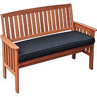 CorLiving PEX-868-B Miramar Cinnamon Brown Hardwood Outdoor Bench, Black