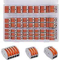 Conectores Eléctricos Rapidos Estancos Palanca Tuerca Cable Conector Kit 2/3/5 Puerto Conectores de Cable Compactos 60…