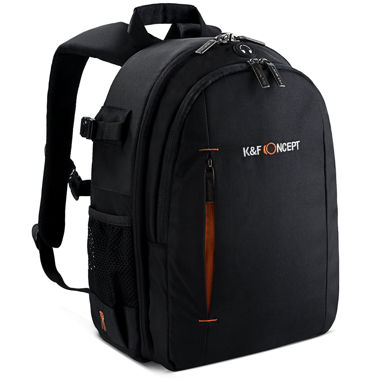 K&F Concept Professional Camera Backpack for SLR/DSLR Mirrorless Cameras (Canon Nikon Sony Pentax),Lenses, Tripod, 10'' iPad and Photography Accessories with Rain Cover by K&F Concept