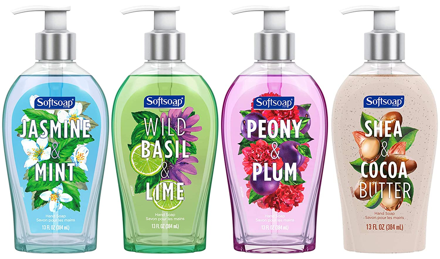 Softsoap Liquid Hand Soap Variety Pack, Multi-Pack of Scented Hand Soap Pumps - 13 fluid ounce (4 Pack)